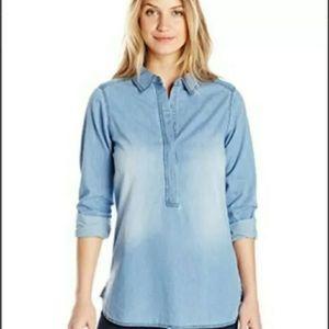 Nicholas K. Denim Shirt Long-sleeved Top